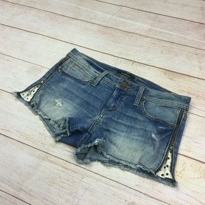 Bebe Distressed Short Mini Jean Shorts